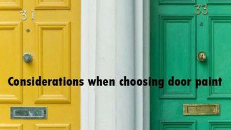 choosing door paint
