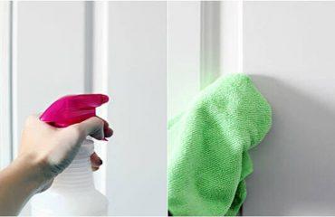 how to clean panel doors