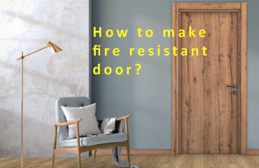 how to make a fire resistant door