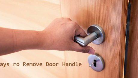 remove door handle